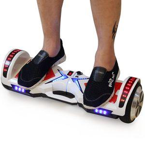 Ховерборд 6,5 Led Lights Электрический скейтборд Hoverboard самобалансировани Hoover Board Скутер с Bluetooth электрический скутер