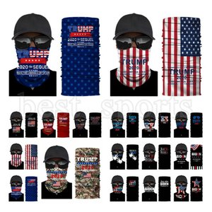 Maschera viso Trump 2020 US Flag mascherina protettiva esterna Ciclismo sciarpa magica della fascia del Bandana Presidente Trump Biden Elezione maschere CYZ2723