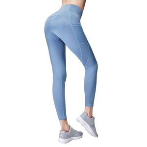 Pantaloni Yoga elastico ghette senza giunte pancia controllo Acefancy donne con tasche Sportswear
