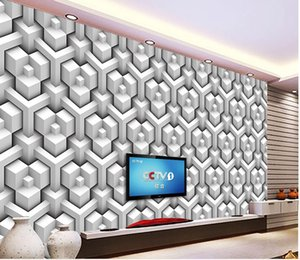 3D stereo lattice texture TV background wall mural 3d wallpaper 3d wall papers