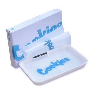 Cookies LED Glow Tray Cookies Built-in Battery Changeable Rolling Tray Quick Charge Glow Featured Dry Herb Tobacco Storage Tray Holder