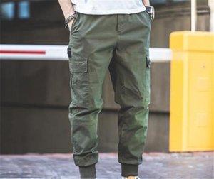 Pantalon taille élastique Pantalon Homme Vêtements Mode Hommes Casual Pantalon cargo pleine capris multi travail de poche