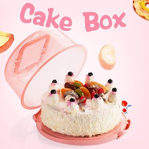 البلاستيك كب كيك الحاويات يده عيد ميلاد المحمولة كعكة صندوق تخزين كعكة مربع أداة مطبخ دائم