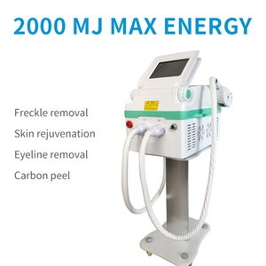 Effective Spa and Salon Use Portable ND yag laser+ OPT IPL SHR 2 in 1 Multifunctional machine for tattoo+hair removal and skin rejuvenation