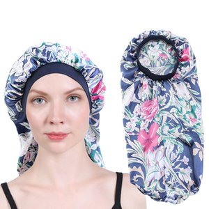 Hot Sale Elastic Band Satin Pocket Bonnet Silky Dreadlock Braids Baggy Cap Women Long Hair Hat Sleeping Caps