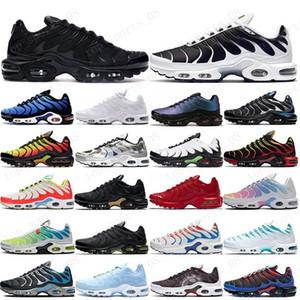 TN Plus para hombre de los zapatos corrientes del Mar Negro Rosa Triple Tensión Rojo Blanco púrpura EE.UU. Lima Limón abejorro ser verdaderos entrenadores deportivos zapatillas de deporte