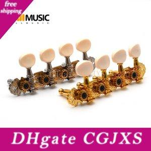 Мандолина Tuning Клавиша Machine Heads Тюнеры Tuning Ключи колышки для мандолины инструмента Золото / никелированная
