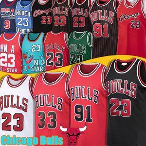 Bull Jersey 91 Dennis Rodman 23 Michael 33 Scottie Pippen College North Carolina State Zach 8 LaVine Basketball Jersey MJ Etats-Unis