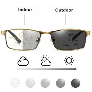 To3 Hyperopia متعددة البؤر بالقرب من النظارات Presbyopia PhotoChromic Reading Diopter EyeGlasses 1 الرجال التقدمي بعيد المناديل