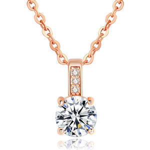 Designer Pendant Necklace Luxury Jewelry Exclamation Mark Four-claw Zircon Necklace Hearts and Arrows Necklace for Women Party Gift