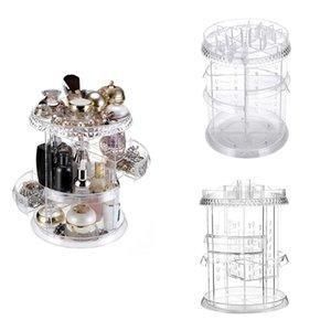360 Rotated Detachable Cosmetics Jewelry Storage Race Case Sundries Organizer Multi-function Detachable Makeup Beauty Organizer