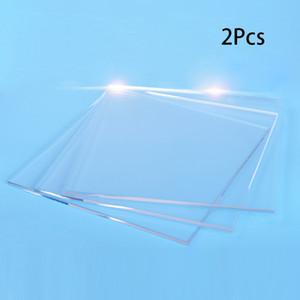 Transparentes de grabación en relieve de plexiglás plástico acrílico Útil Placas 2PCS Durable