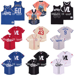 60 Nipsey Hussle Crenshaw Victory Lap copertura Montreal 9 Jackie Robinson 43 Jimmy Dugan Rockford Pesche Tom Hanks baseball Jersey