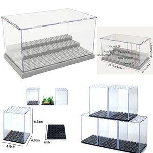 Пылезащитного магазин Steps Блок Base Display Box Акриловая Ассамблея Box Цифра Окно Кабинет 3 пыл здание Compatible Case sqcIWg
