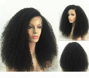 150 Density Kinky Curly Full Lace Wig 7A Brazilian Full Lace Human Hair Wigs For Black Women Glueless Afro Curly Lace Front Wigs