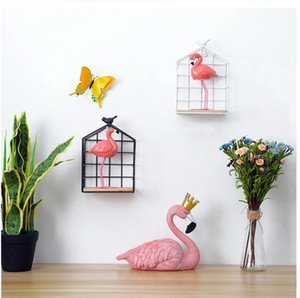 home wood and metal decorate home wall decorate different shape hanging Nordic Style