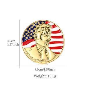 Style 5 Trump Broche Pins Lettre strass Brillante Glitter Broches Femmes Mode Crystal Heart Pins Party cadeau EWE861