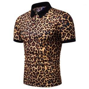 Мужская Повседневная мода рубашка поло тройники короткого рукав Топы 19ss мужской Leopard Polos Summer Designer