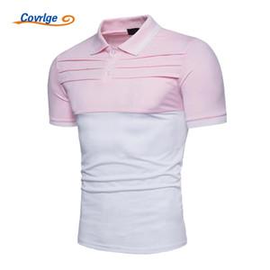 Covrlge Camisa de los hombres 2020 más el tamaño de los hombres de manga corta s ocasional del remiendo de moda de verano marca de ropa Jersey Tops MTP052