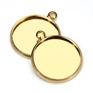 10pcs 10 12 16 18 25mm Round Cameo Cabochon Settings Necklace Pendant Blank Tray Bezel Base For DIY Jewelry Making Accessories