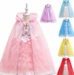 Cloak Costume Crianças de Halloween Day Cape Xaile roupa da menina Princesa Cosplay Crianças dos desenhos animados Capes Princesa Poncho KKA773 UJjI #