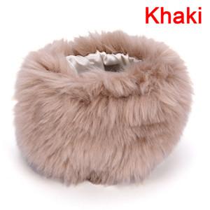 Women's Autumn Wrist Gloves Fashion Faux Fur Elastic Oversleeve Cuff Winter Warm Wristbands Sleeve Cuff Cover 15*10 cm