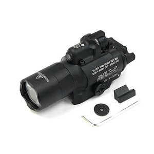 Tactique CNC Faire SF X400U LED lumière blanche X400 Ultra pistolet Fusil lampe de poche avec laser rouge