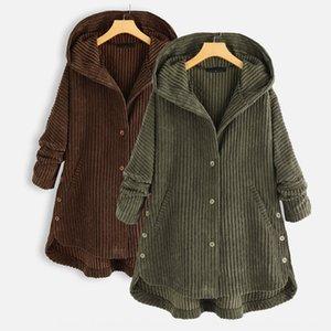 i vestiti delle donne di disegno di vendita calda 2020 autunno e inverno nuovo velluto a coste cappotto Wick cotone imbottito vestiti cappotto di cotone imbottito con cappuccio