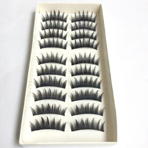 20pcs set Cotton Stalk Eyelashes False Eyelashes Natural Long Black Fake Makeup Tool Eyelash Extension Fake Eye Lashes