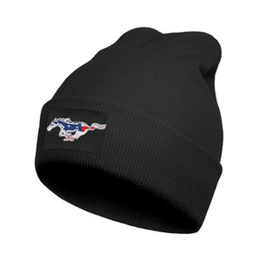 Fashion Ford Mustang 3D effect flag gt Winter Ski Beanie Hats Daily Shelby American Distressed for sale black camouflage price logo les