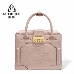 Gete новая сумка кожи крокодила для женщин личности способа мешок плеча кожаную сумку пакет Емкий Женская сумка RQnp #