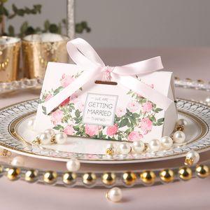 20шт новый творческий Romantic Rose коробки конфет венчания и розовые подарки Box Party Supplies Baby Shower бумаги Сладкий шоколад