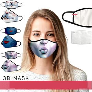 moda yüz yeni Avrupa ve Amerikan dijital baskı koruyucu maske Halloween komik palyaço kafatası PM2.5 filtre maskesi maske