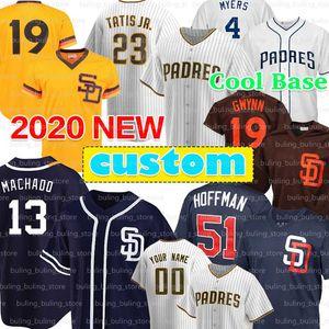23 Fernando Tatís Jr. Jersey Padres 2020 personalizzato 13 Manny Machado 19 Tony Gwynn 4 Wil Myers 51 Trevor Hoffman 30 Eric Hosmer