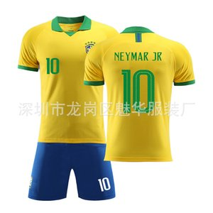 2019 America Cup Brazil Jersey home and away jersey No. 10 Neymar football suit children's clothing + socks