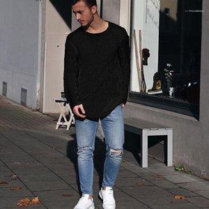 Autunno Designer lavorato a maglia magliette Solido Colore semplice casuale Partita Maglione Top Maniche lunghe Autunno Tees Mens