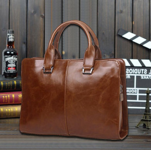 Man Briefcase Dress Handbags Computer Bag Gentleman Business Trip Briefcase Shoulder Crossbody