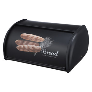 Bread Box Countertop Snack Cookies Box Stainless Steel Bread Storage Bin Container with Roll up Lid, Large Capacity