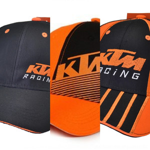 KTM carreras de béisbol al aire libre señaló deportivos tapa de la motocicleta torre de deportes al aire libre gorra bordada motorcycleroad visera w7wTR