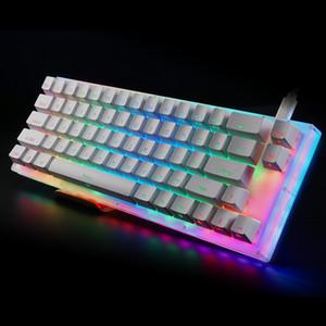 RGB Womier 66 anahtar Custom Mekanik Klavye Seti% 65 66 PCB DURUM sıcak değiştirilebilen anahtarı destek ışık efektleri led anahtarı