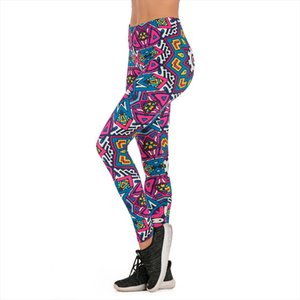 Brands Women Fashion Legging ethnic princess Printing leggins Slim legins High Waist Leggings Woman Pants