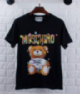 Erkek kadın tişörtleri Artı Boyut S-3XL Tee Gömlek Homme Yaz Kısa Kollu ErkeklerMoschinoT Gömlek Erkek tişörtleri Camiseta Tişört