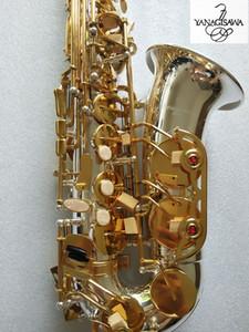 Strumento d'argento Nuovo Sassofono YANAGISAWA A-W037 placcato bemolle Marca musicale sax con il caso Brass Reed. boccaglio