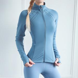Giacca Training Diqueqi donne che funzionano con cappuccio Yoga shirt manica lunga cerniera Sport Fitness signore hoodies delle donne T Y200827
