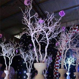92cm de plástico Coral rama de árbol de bricolaje boda Camino que lleva Inicio decoración de jardín flor blanca de la pared Coral Ramas Plantas decoración de la pared
