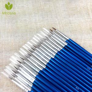 100pcs / Set fino pintado a mano gancho Thin Line Art Pen Azul Material acuarela dibujo pintura de la pluma de nylon B B Pen pintura