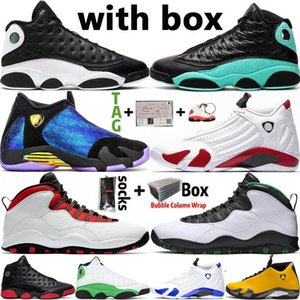 Nike Air Jordan 14 Retro Новый DB Doernbecher 14 14s SUP White 13 13s Reverse He Got Game Island Green Men Basketball Shoes Wings 10 10s Мужские спортивные дизайнерские кроссовки