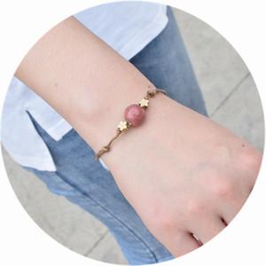 Lucky Golden Star String Bracelet for Women Men Adjustable Rope Braided Beads Bracelet Mom Daughter Couple Gift