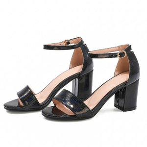 Shoes Women Sandals 2020 Women Shoes Block Heels Colorful laser fabric Buckle Party Sandalias Sexy Classic new Sandals