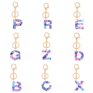 الأبجدية الأزياء حلقة مفاتيح اللون الحبل سلسلة المفاتيح اكسسوارات سحر لطيف حامل مفتاح سيارة بوكلي محافظ الساخن بيع 3 2yw C2